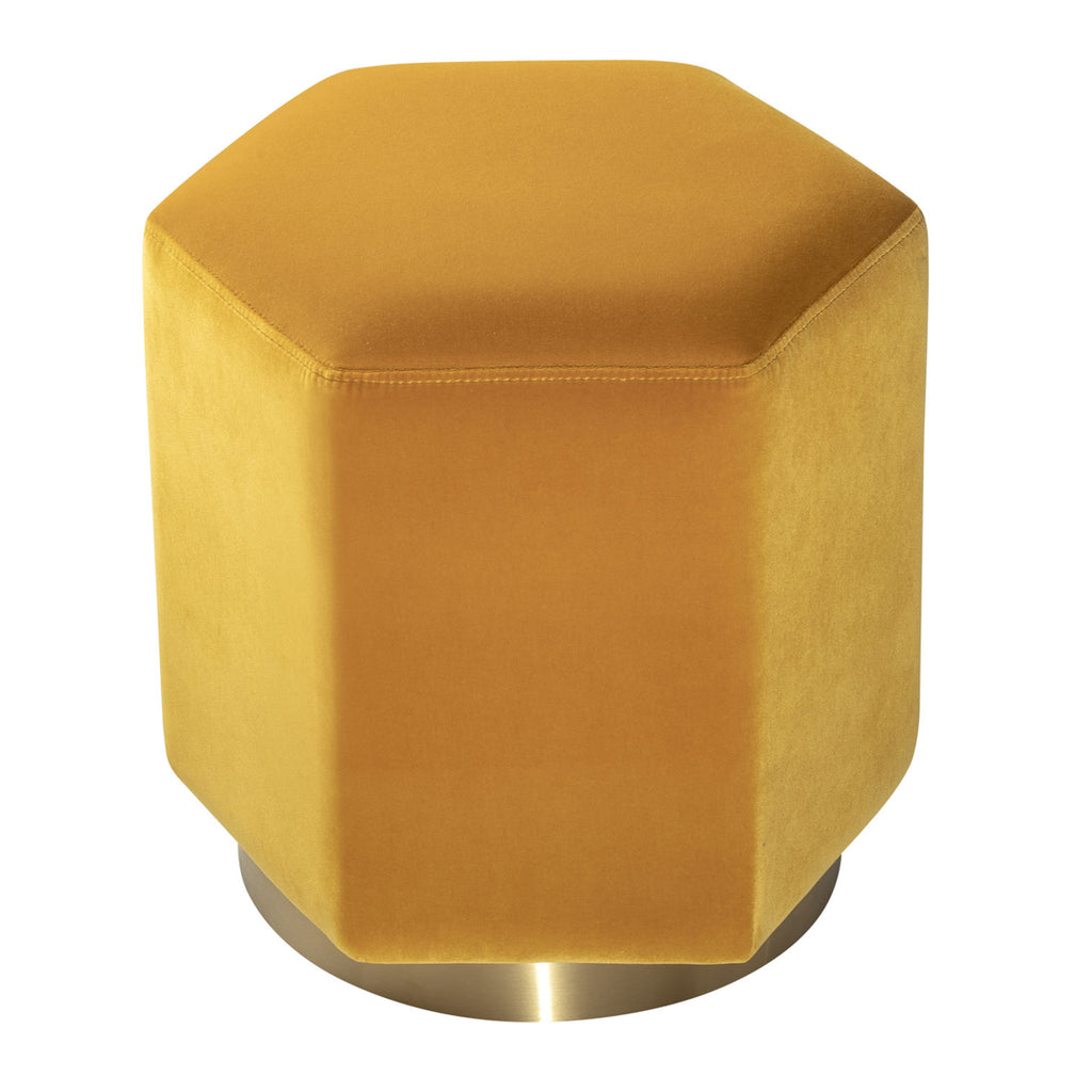 Liang & Eimil Monti Stool Gainsborough Ochre Velvet