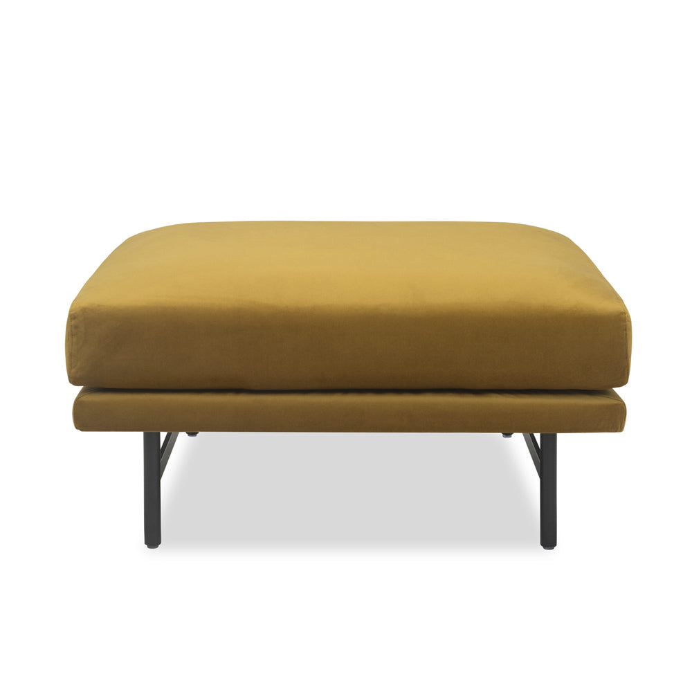Liang & Eimil Mossi Ottoman with Baxter Honey Velvet