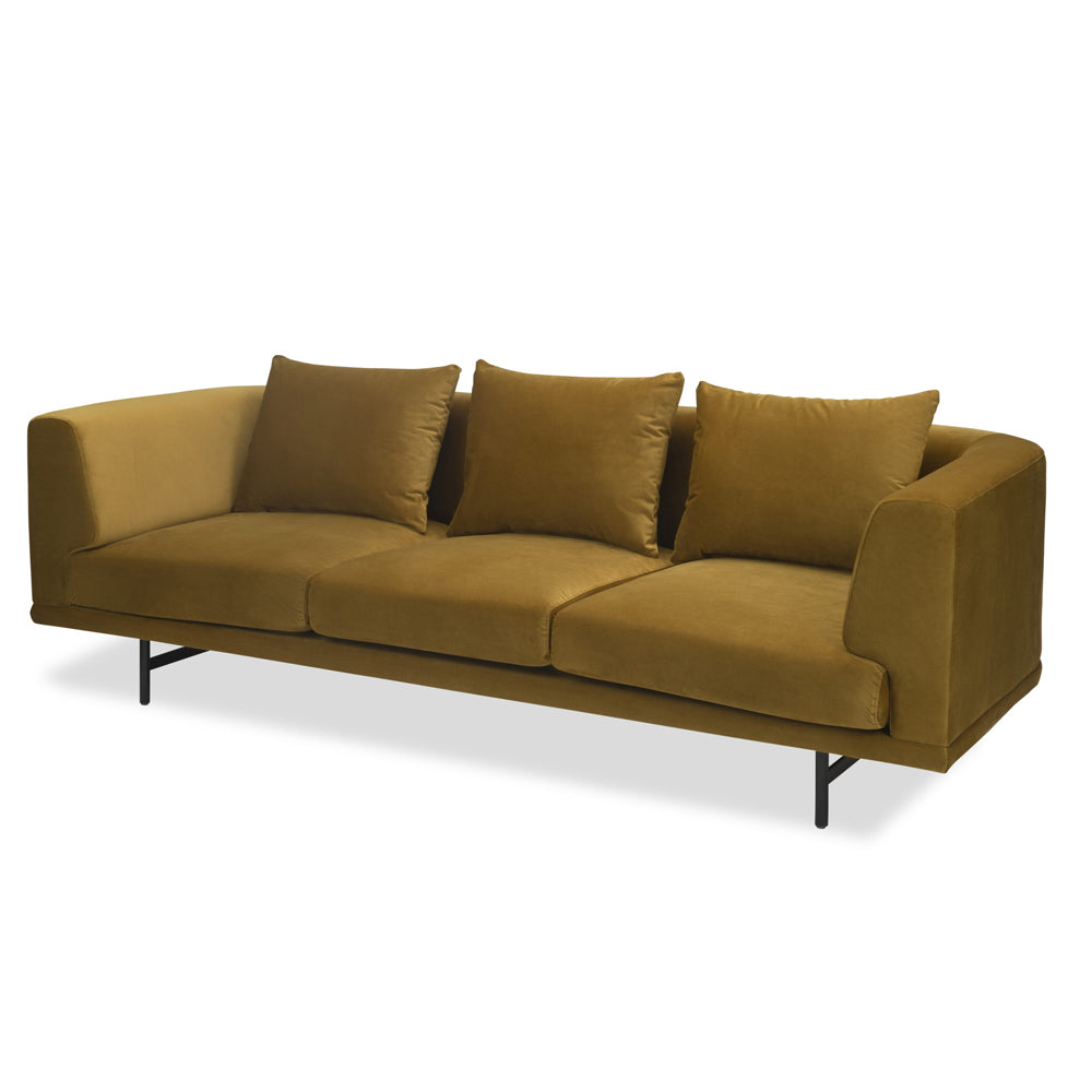 Liang & Eimil Mossi Sofa with Baxter Honey Velvet Fabric