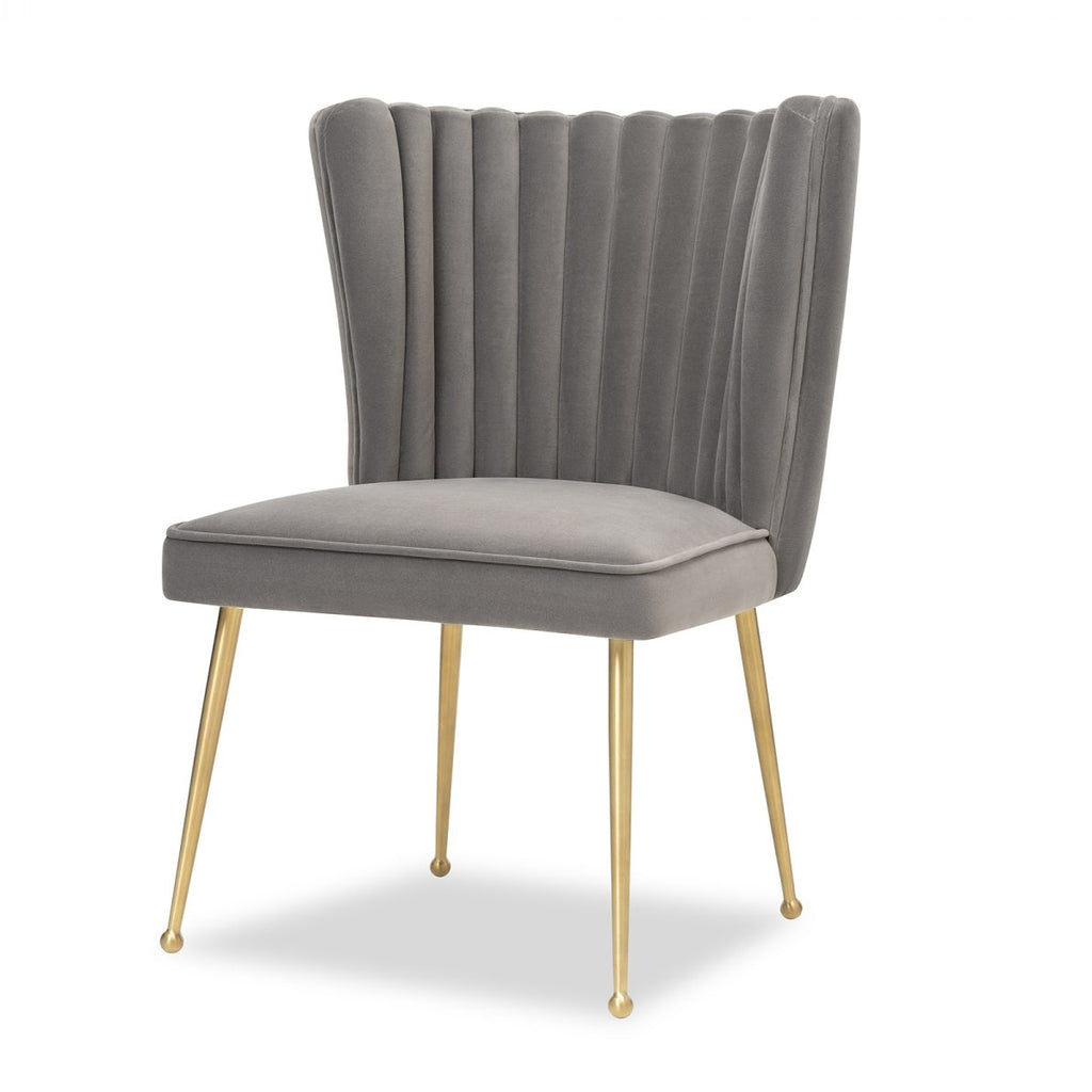 Liang & Eimil Nico Chair in Kaster Steel Grey Velvet