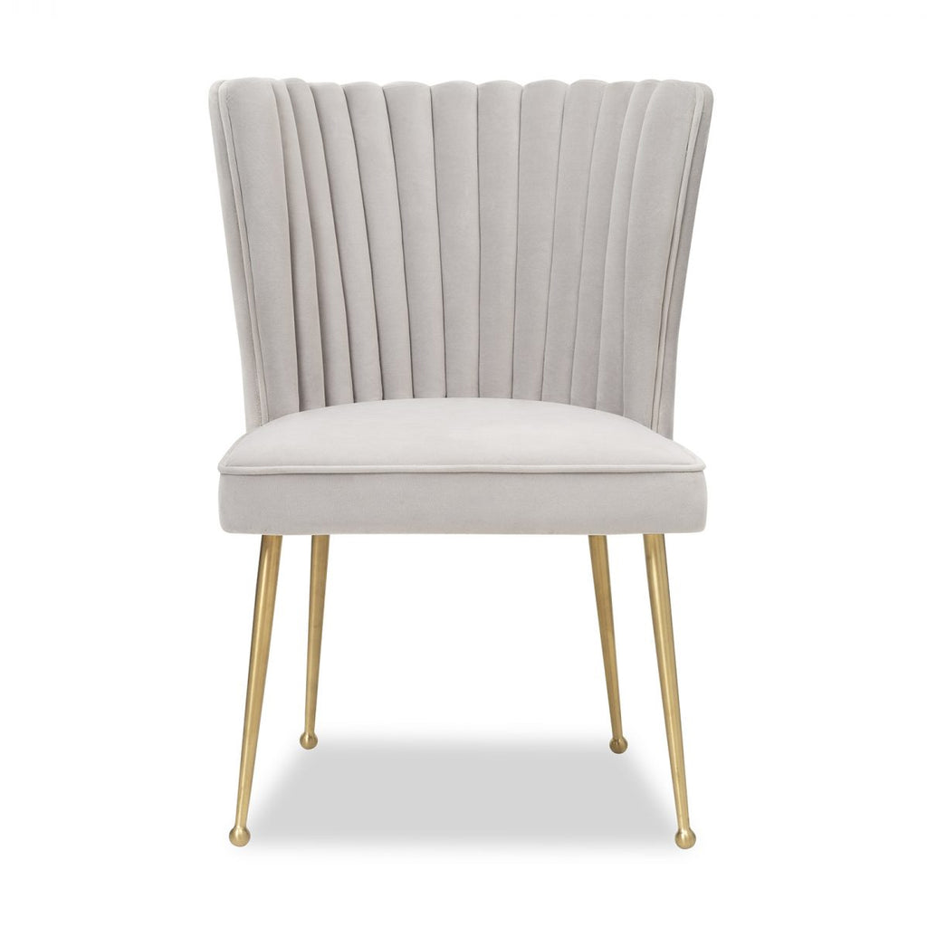 Liang & Eimil Nico Chair in Kaster in Light Grey Velvet
