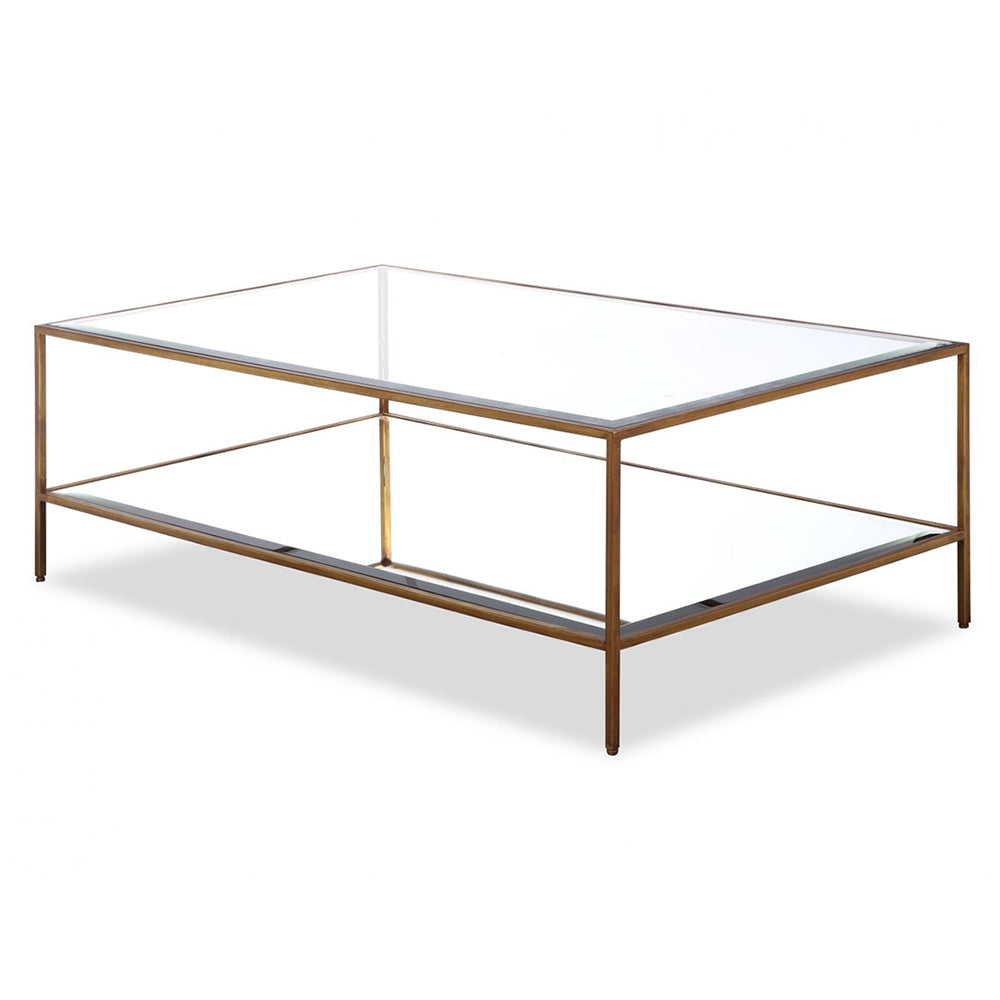 Liang Amp Eimil Oliver Antiqued Gold Coffee Table