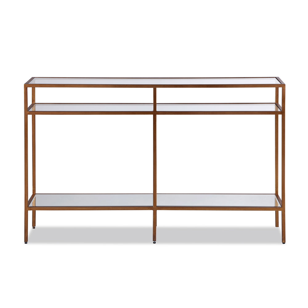 Liang & Eimil Oliver Console Table with Glass and Antique Gold