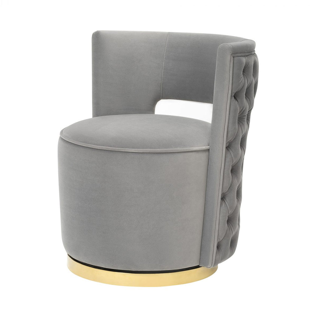 Liang & Eimil Ollie Chair in Kaster Horizon Grey Velvet