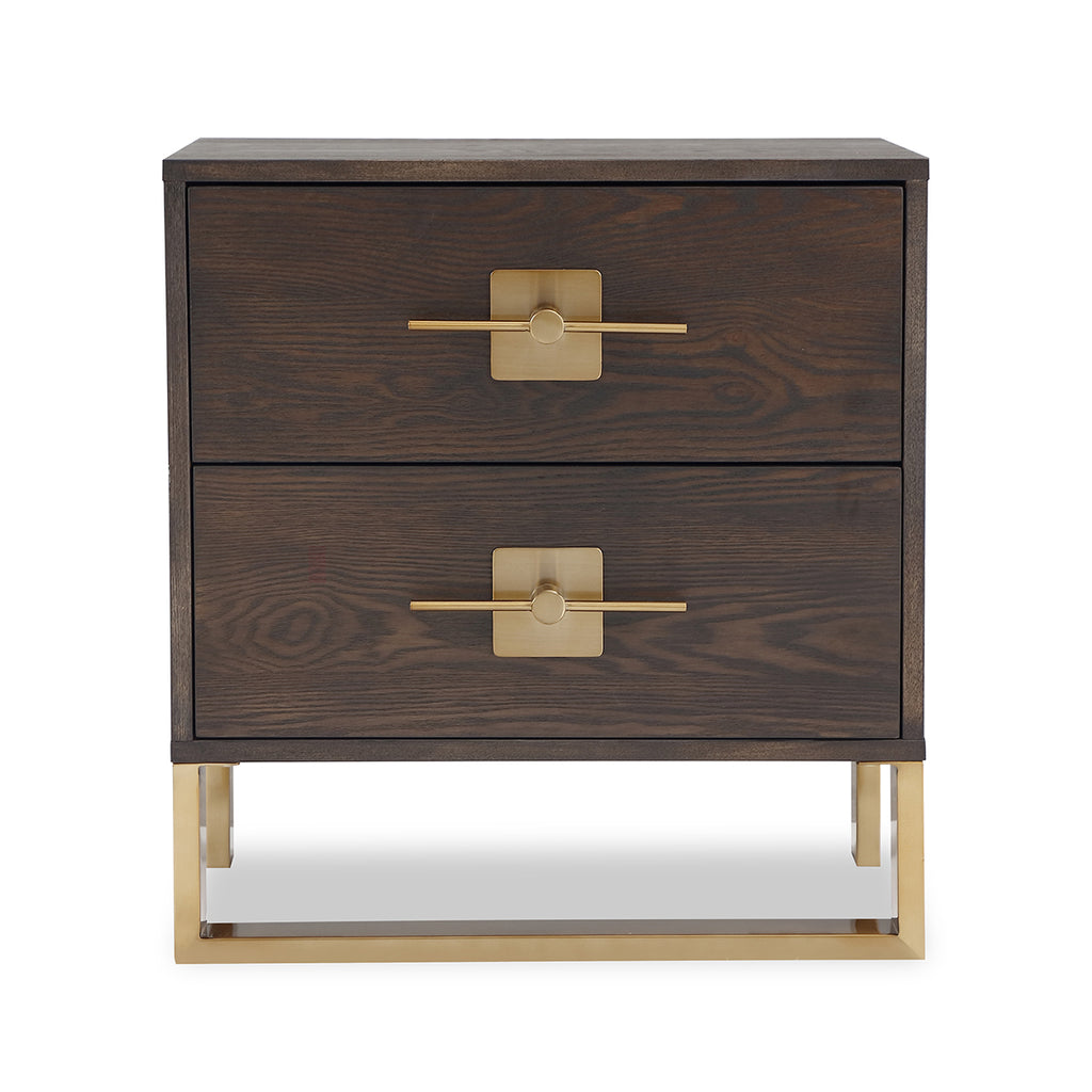 Liang & Eimil Ophir Bedside Table in Dark Brass