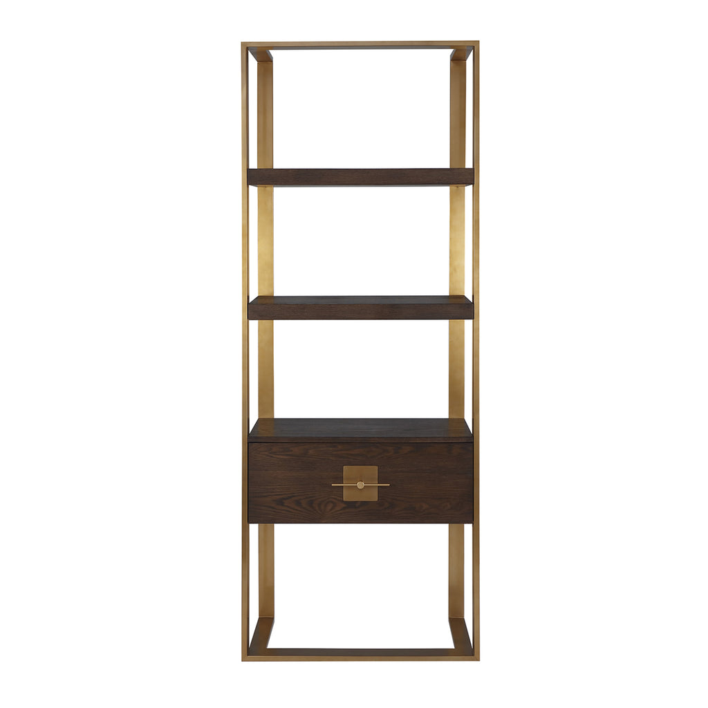 Liang & Eimil Ophir Shelving Unit with Ash Veneer and Brass