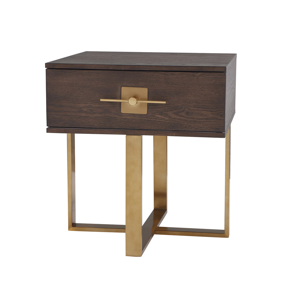 Liang & Eimil Ophir Side Table with Ash Veneer and Brass