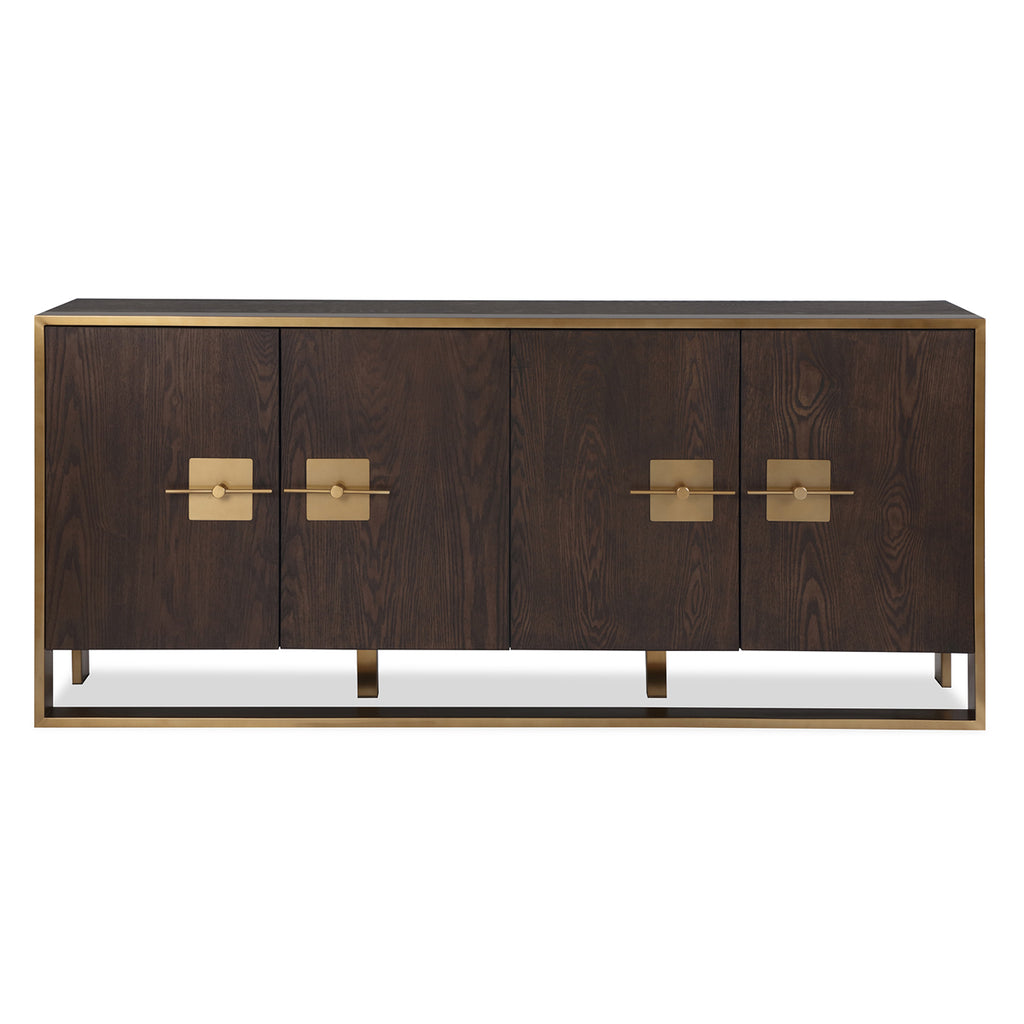 Liang & Eimil Ophir Sideboard with Ash Veneer and Brass