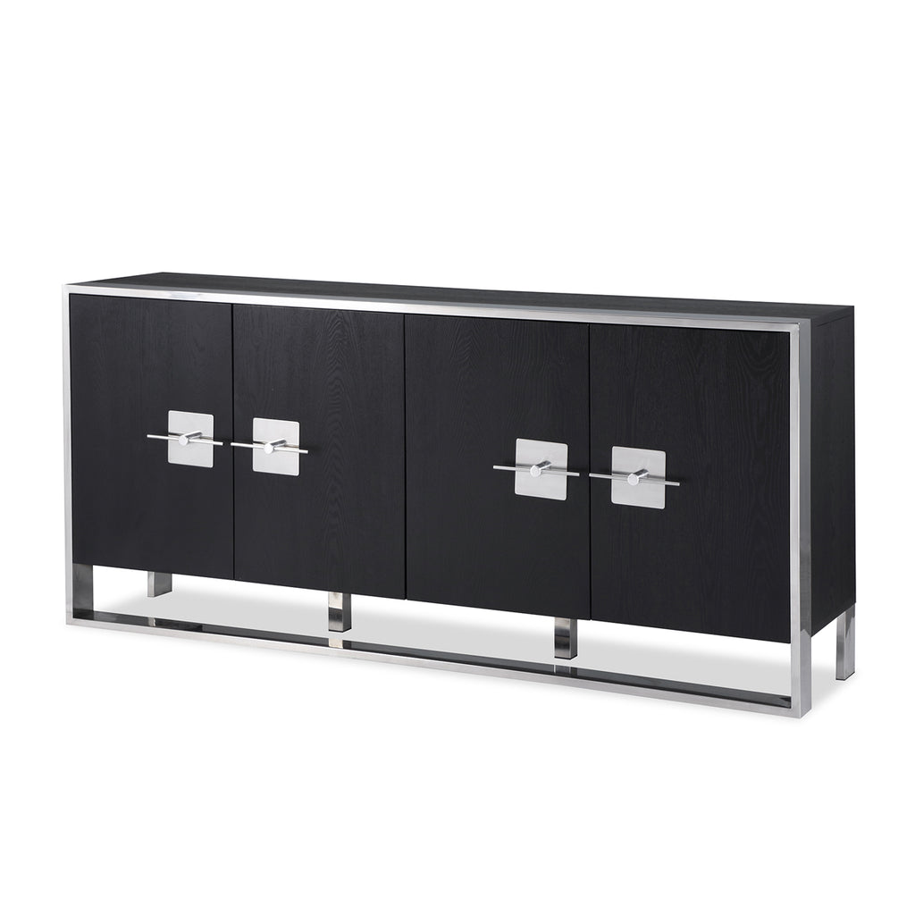 Liang & Eimil Ophir Sideboard with Black Ash Veneer and Stainless Steel