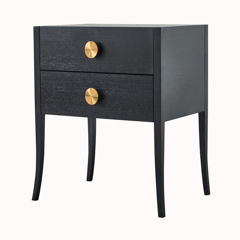 Liang & Eimil Orly Bedside Table with Brass Handles