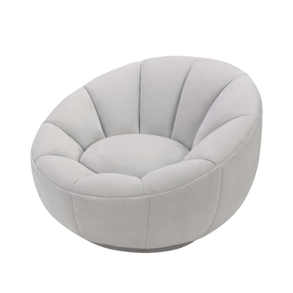 Liang & Eimil Paradise Swivel Chair with Toscana Misty Velvet