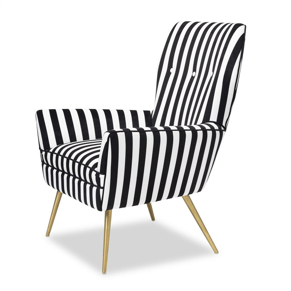 Liang & Eimil Paris Chair in Black and White Velvet