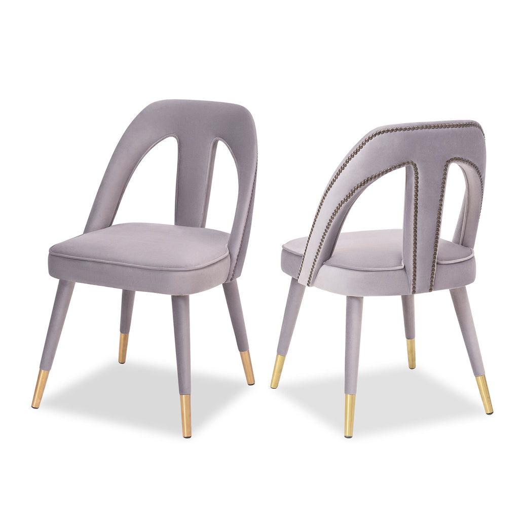 Liang & Eimil Pigalle Chair Kaster Light Grey Velvet