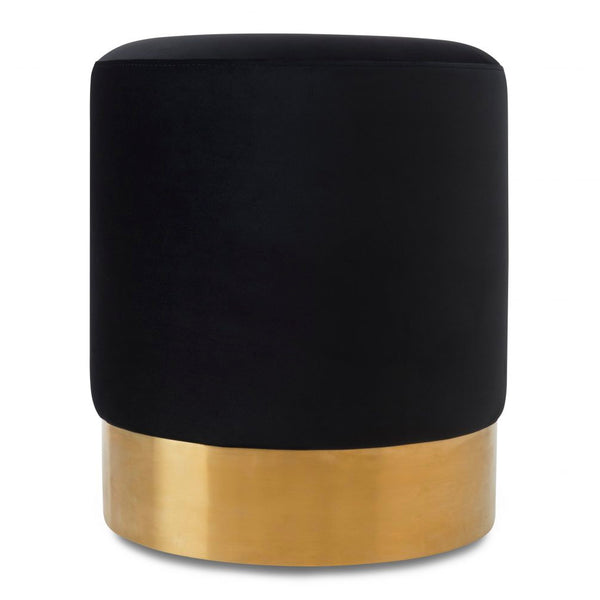 Liang & Eimil Pitch Black and Gold Eliott Stool