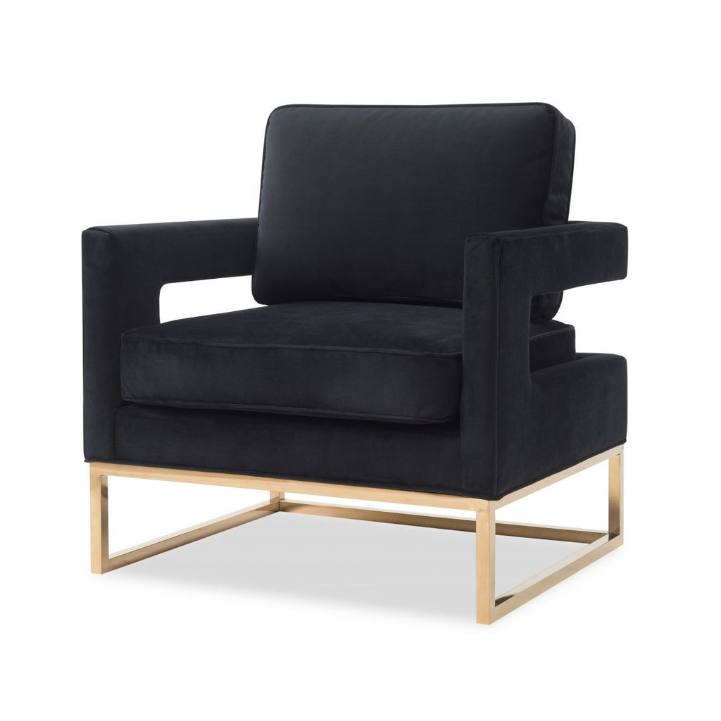 Liang & Eimil Pitch Black & Gold Altro Occasional Chair