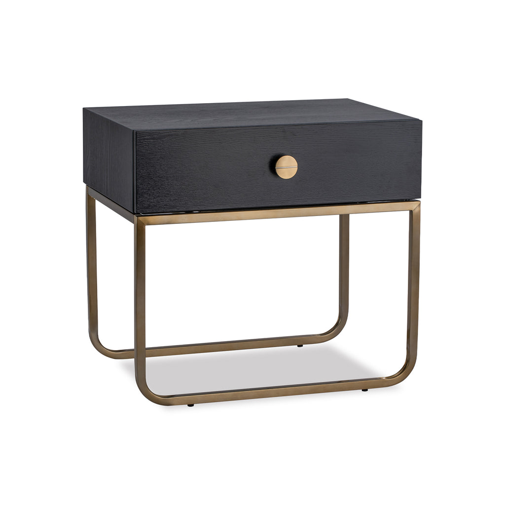 Liang & Eimil Rhapsody Bedside Table with Crown Ash Veneer and Brushed Brass