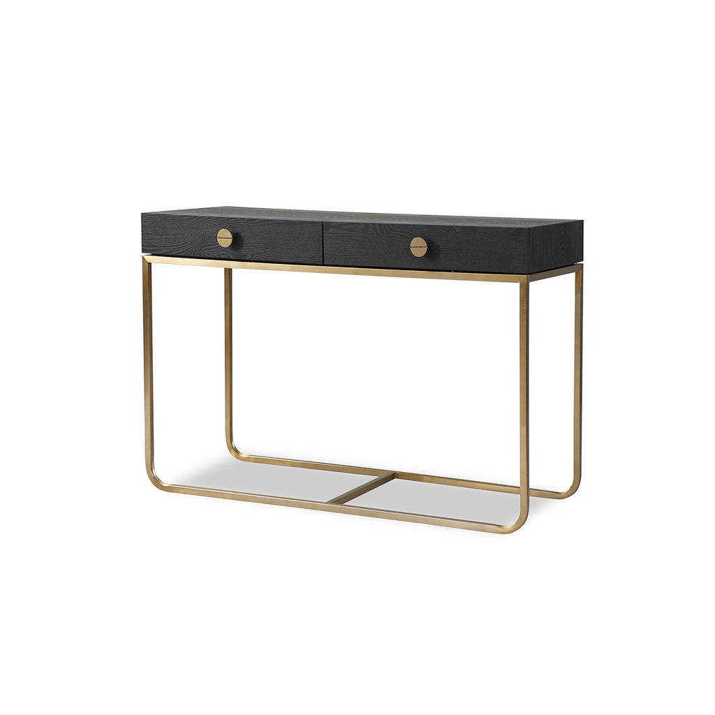 Liang & Eimil Rhapsody Dressing Table with Crown Ash Veneer and Brushed Brass
