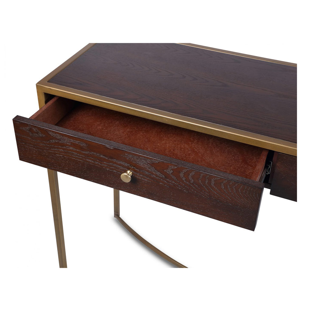 Liang & Eimil Rivoli Dressing Table in Chocolate Brown Brass