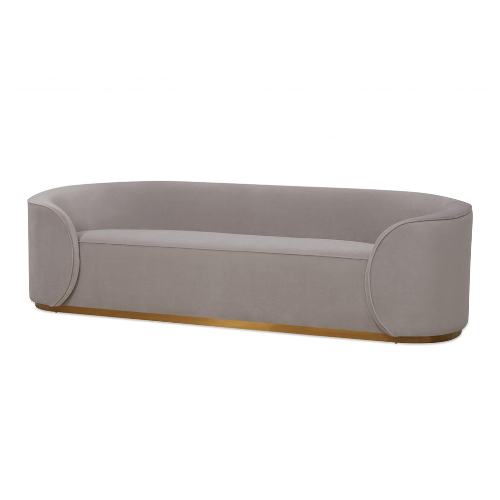Liang & Eimil Rondo Light Grey Velvet Sofa