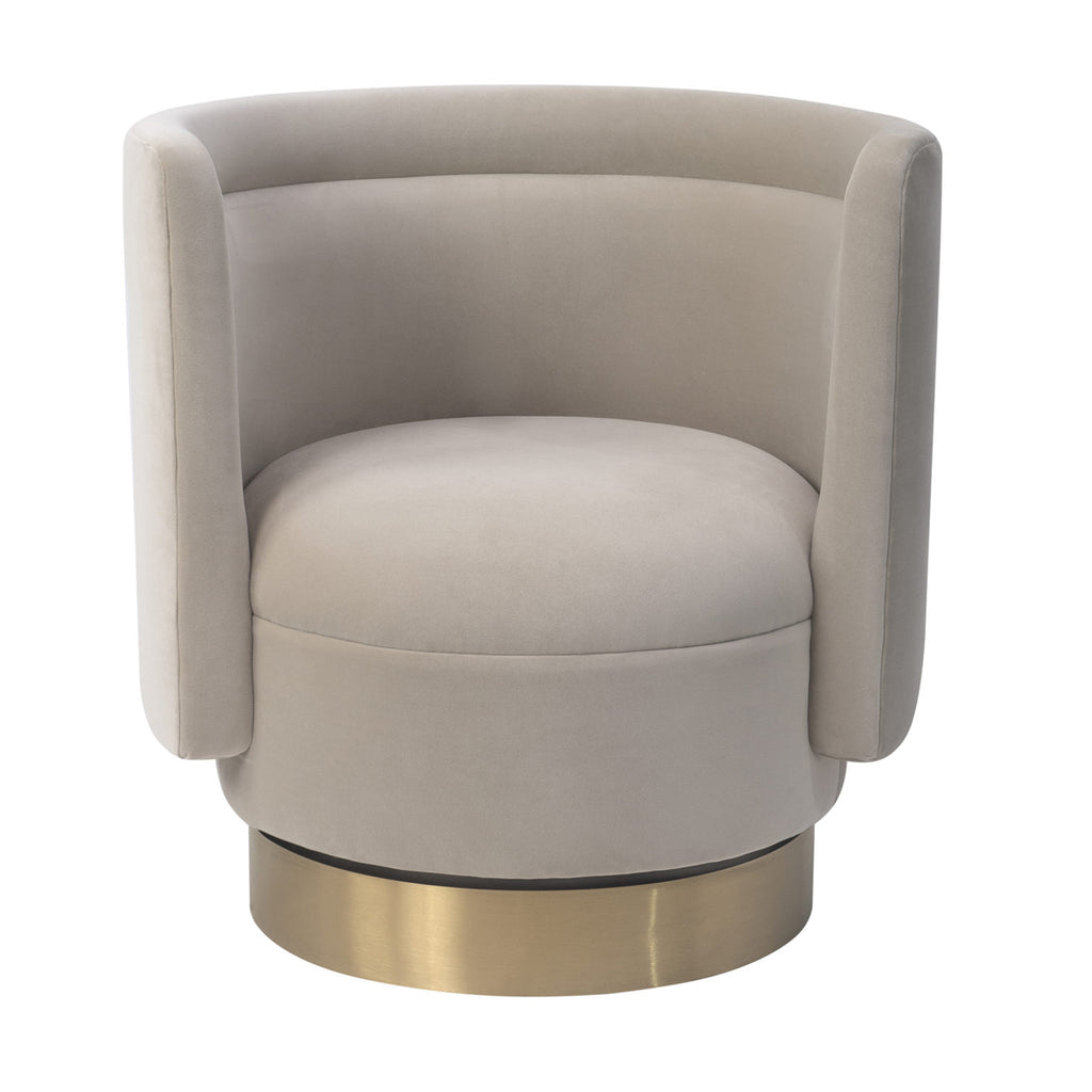 Liang & Eimil Studio 21 Chair in Kaster Pebble Velvet