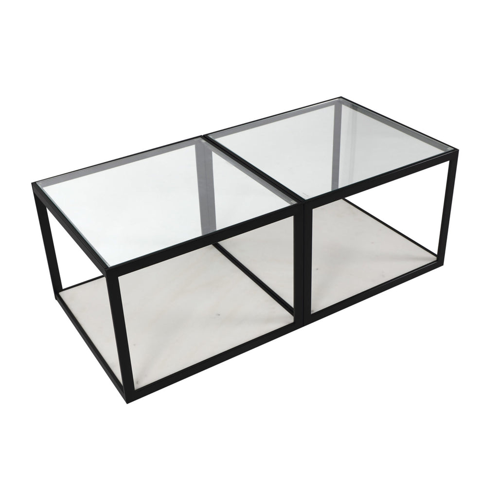 Liang & Eimil Tamon Coffee Table with White Marble (set of two)