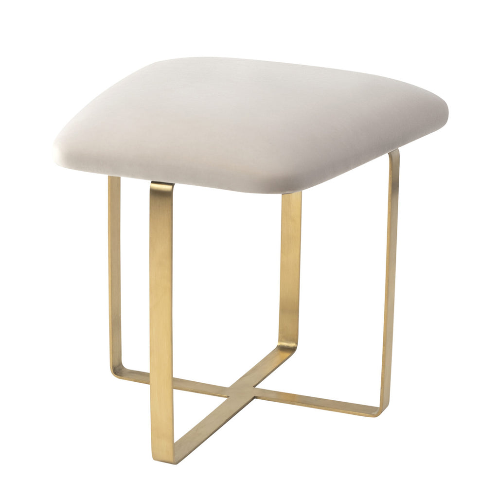 Liang & Eimil Tatel Stool Gainsborough Limestone Velvet