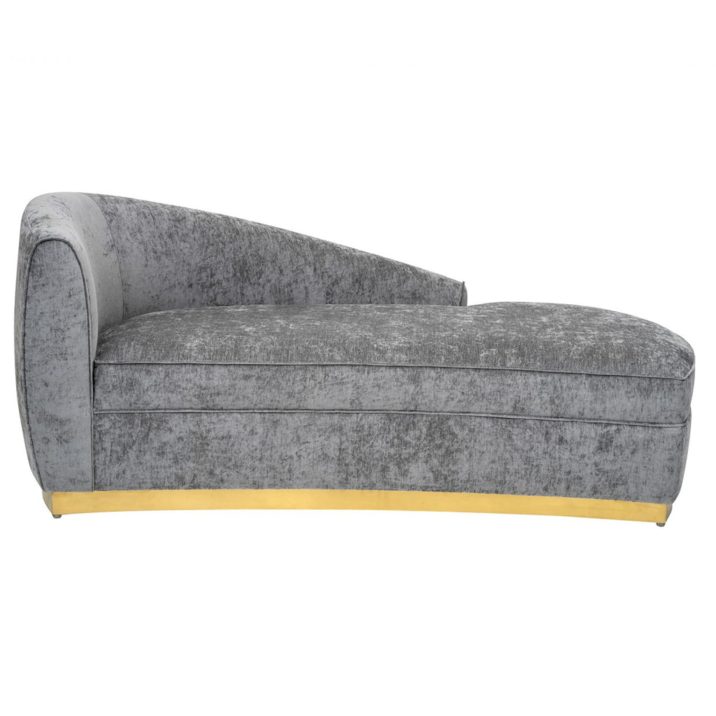Liang & Eimil Tivoli Chaise Longue in Crush Grey Velvet