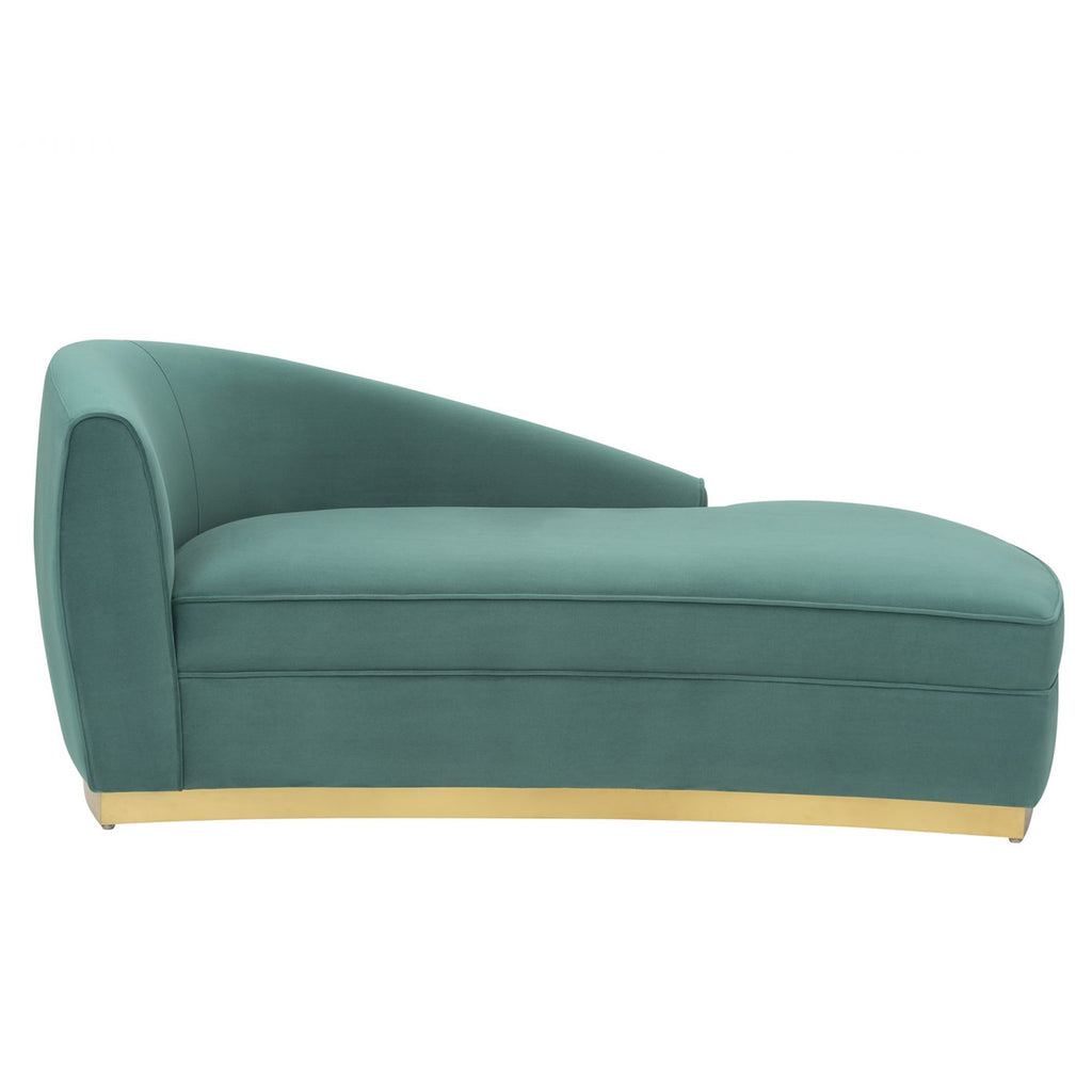 Liang & Eimil Tivoli Chaise Lounge in Kaster Lincoln Green Velvet