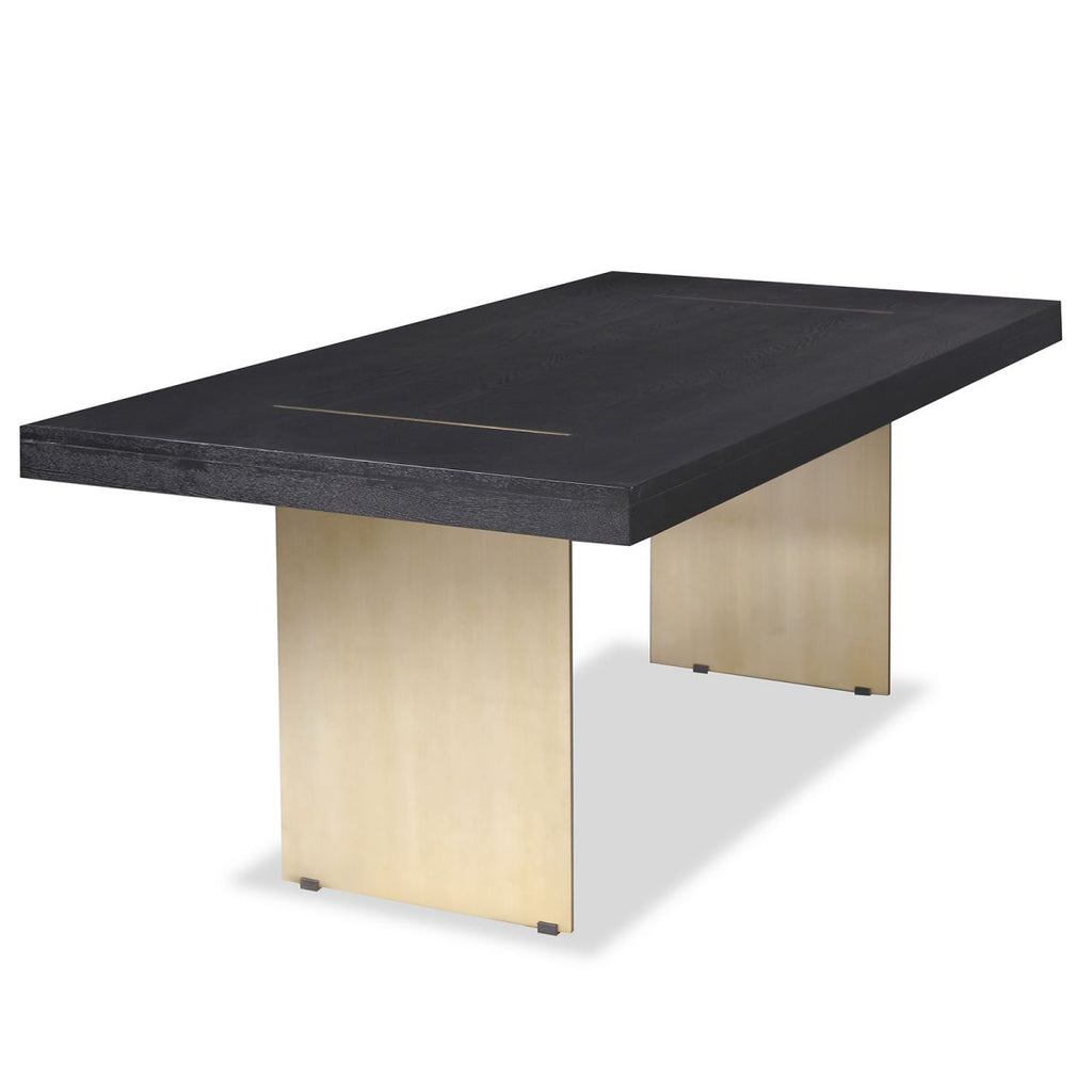Liang & Eimil Unma Dining Table in Black Ash with Brushed Brass