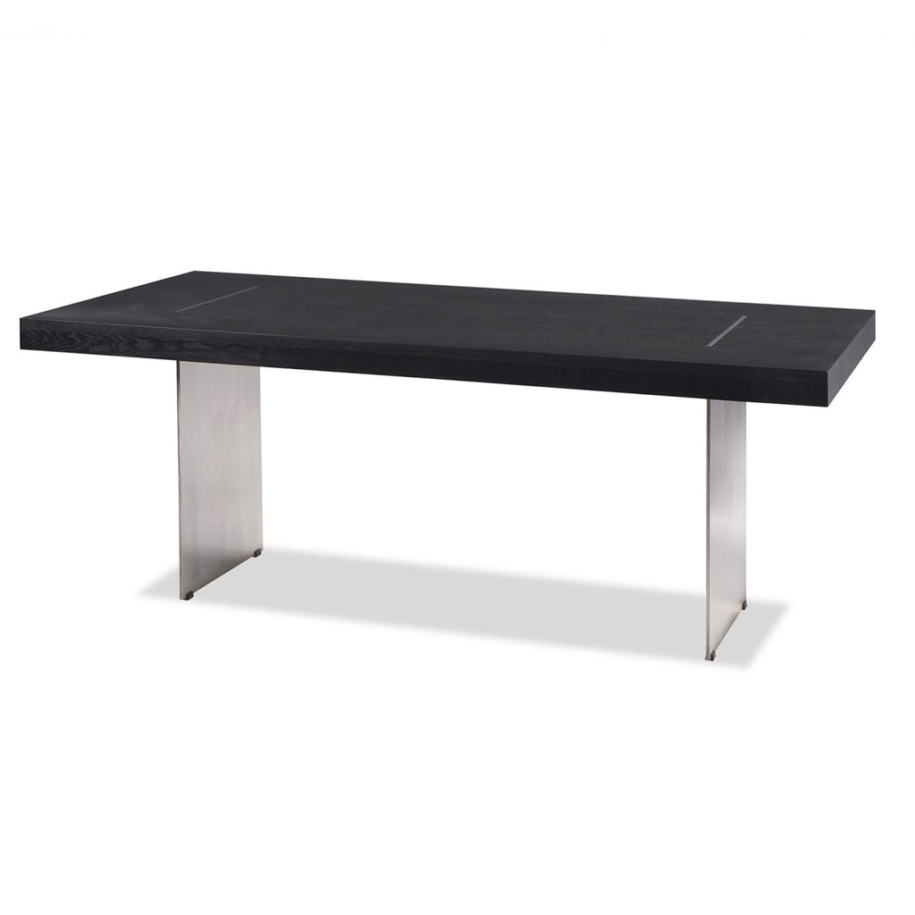 Liang & Eimil Unma Dining Table in Black Ash with Stainless Steel
