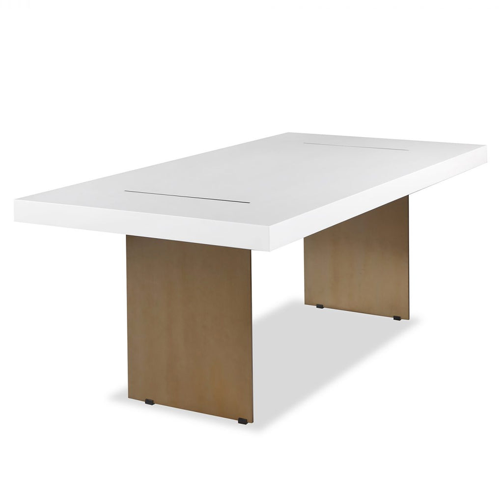 Liang & Eimil Unma Dining Table in White with Brushed Brass