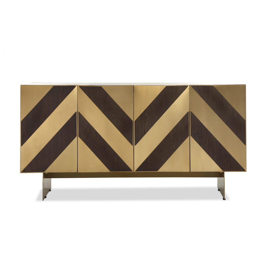 Liang & Eimil Unma Sideboard in Brown Ash & Brass Chevrons