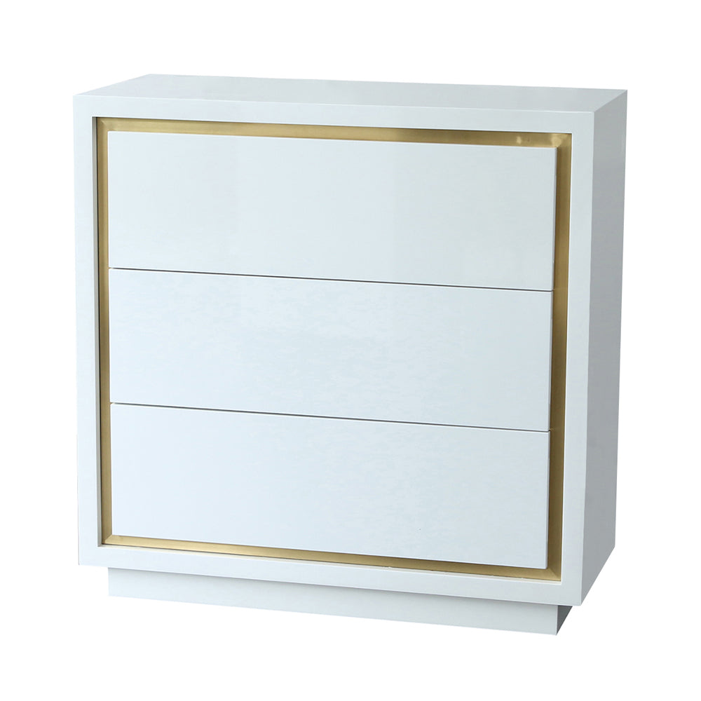 Liang & Eimil Utopia Chest of Drawers with High Gloss White Lacquer