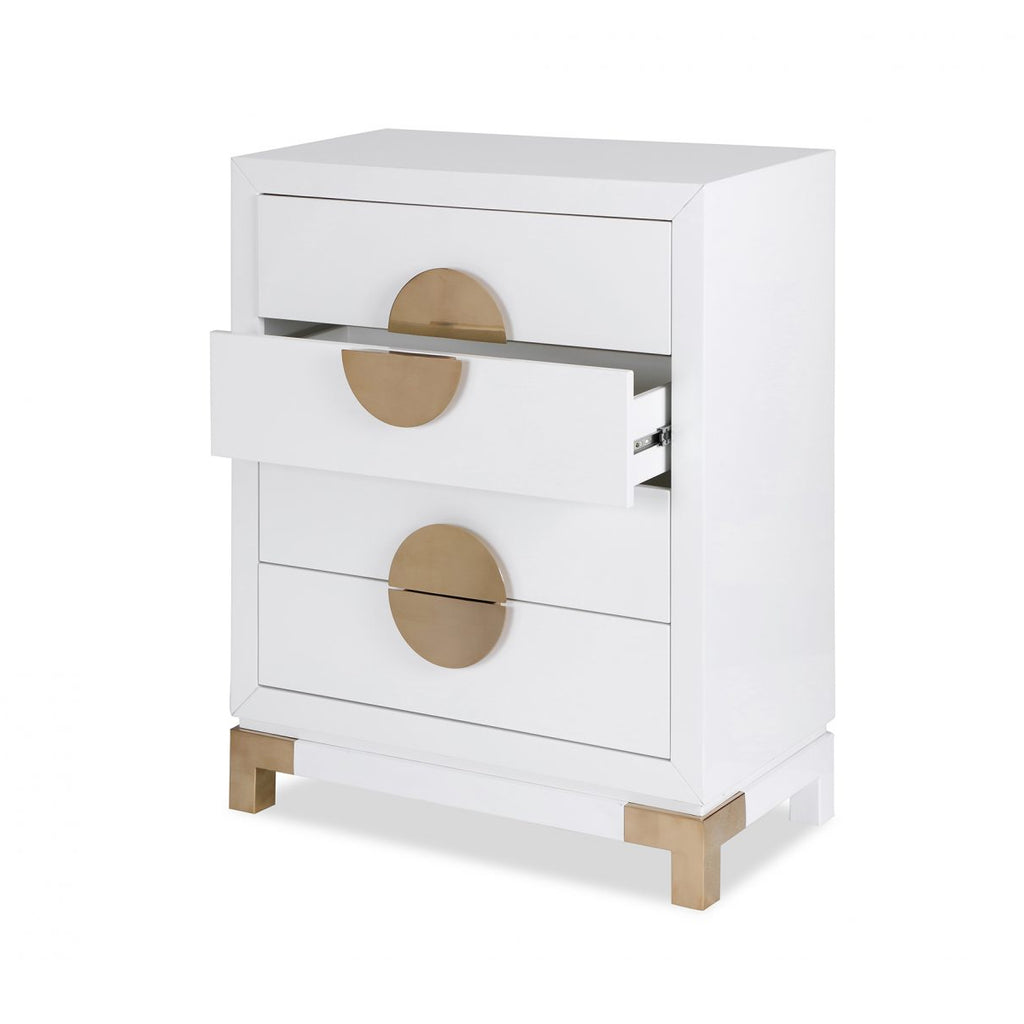 Liang & Eimil White & Gold Otium Chest of Drawers