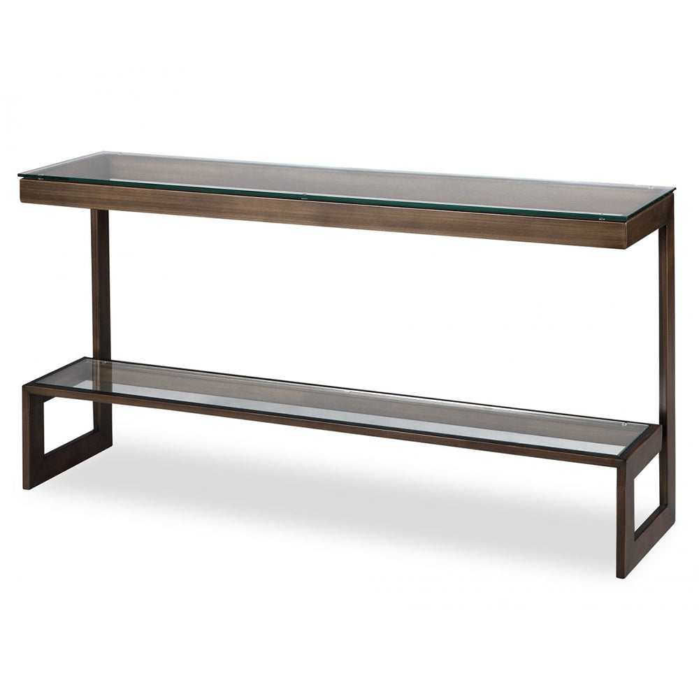 Liang & Eimil Bronze & Glass Ziggi Console Table
