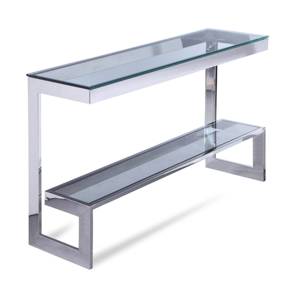 Liang & Eimil Ziggi Silver & Glass Console Table