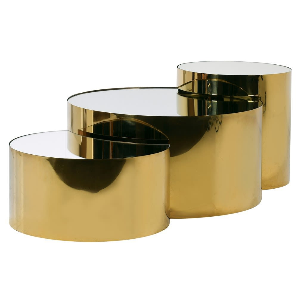 Limora Nesting Tables with Gold Mirror