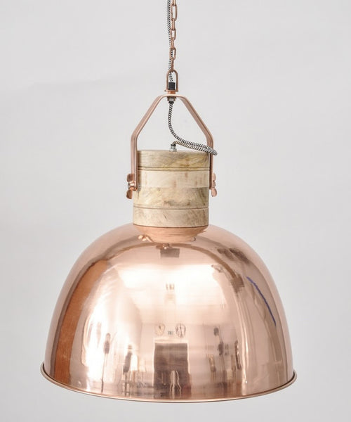 Loft Copper Ceiling Light