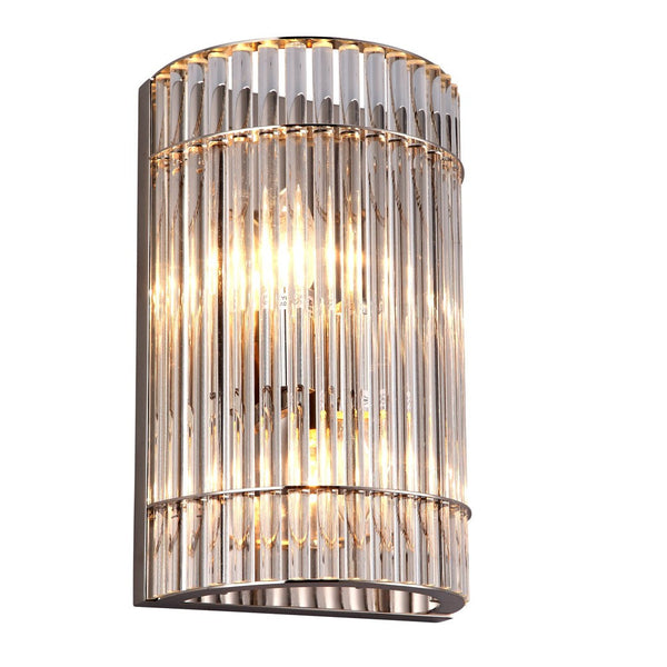 RV Astley Macy Crystal and Polished Chrome Wall Light