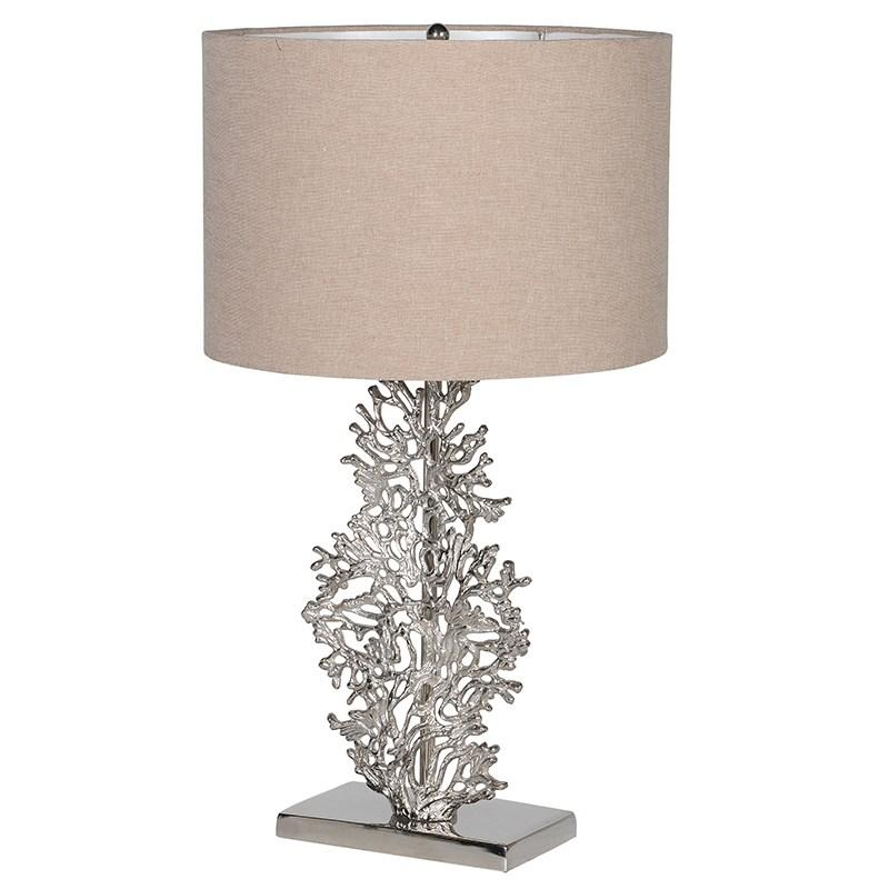 Macon Silver Coral Table Lamp