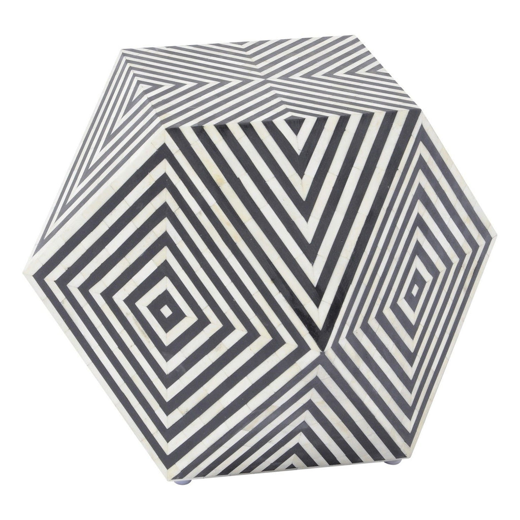 Magritte Geometric Inlay Stool