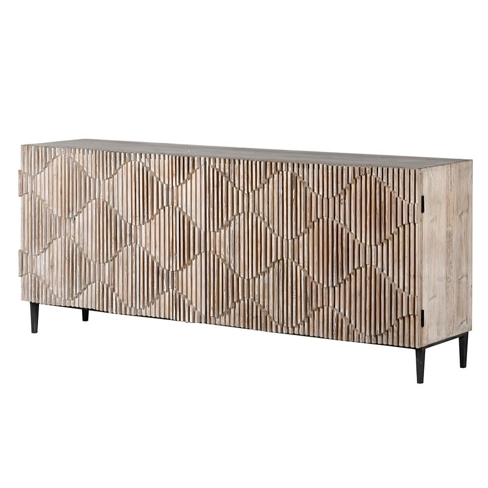 Making Waves Wooden Sideboard