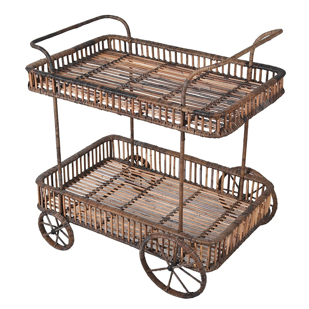Manilla Drinks Trolley with Rattan