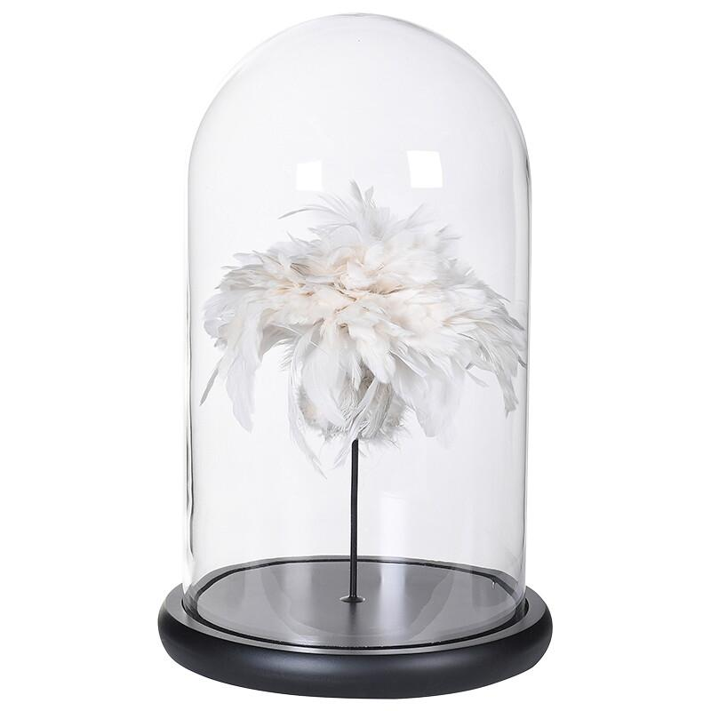 Marilyn Feathers in Glass Dome