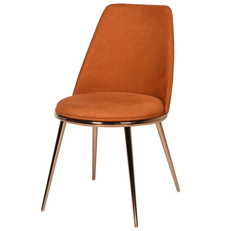 Marzo Chair in Orange and Rose Gold