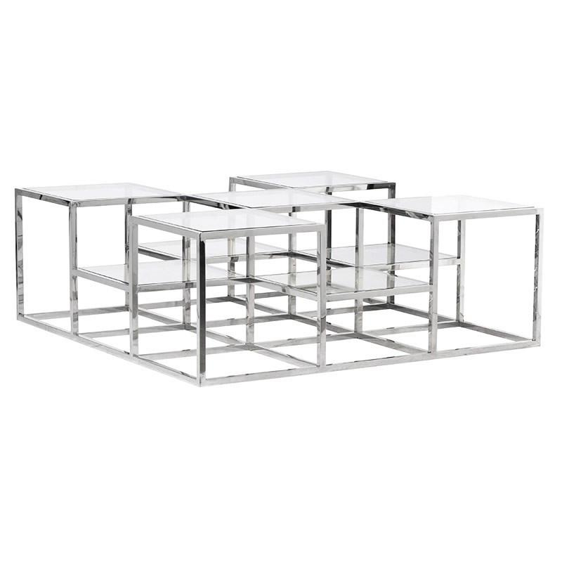 Matrix Metal & Glass Coffee Table