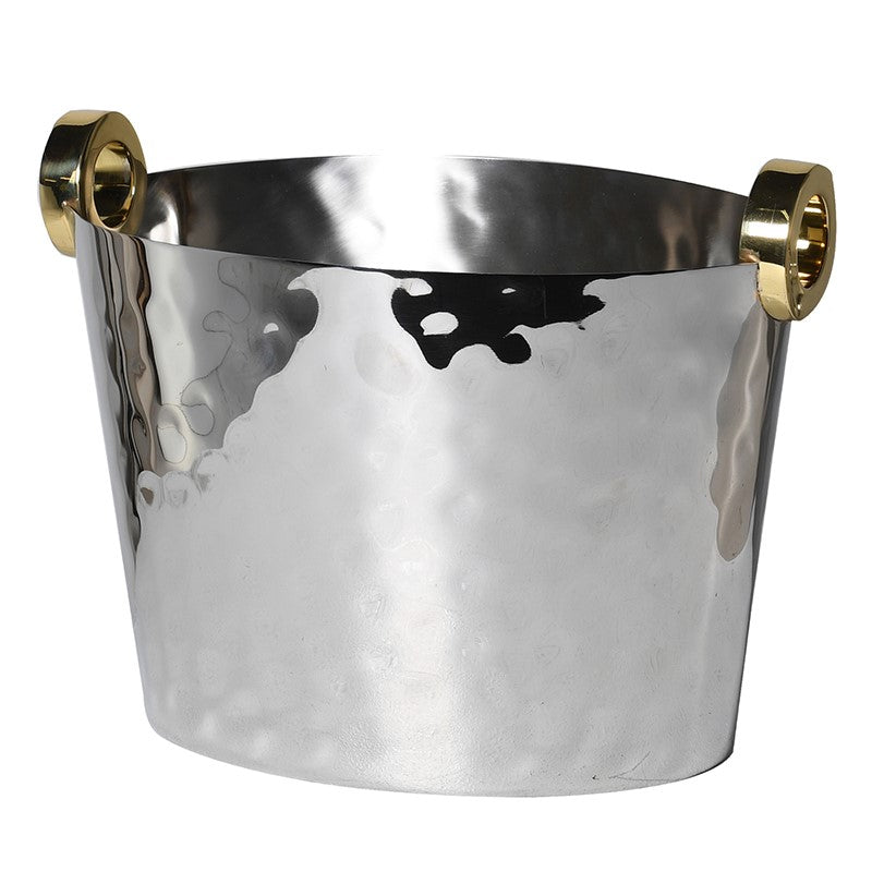 Mauritius Ice Bucket in Hammered Metal