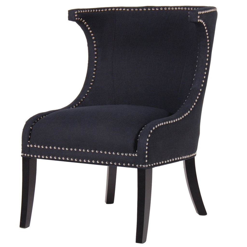 Mayfair Black Studded Wing Dining Chair