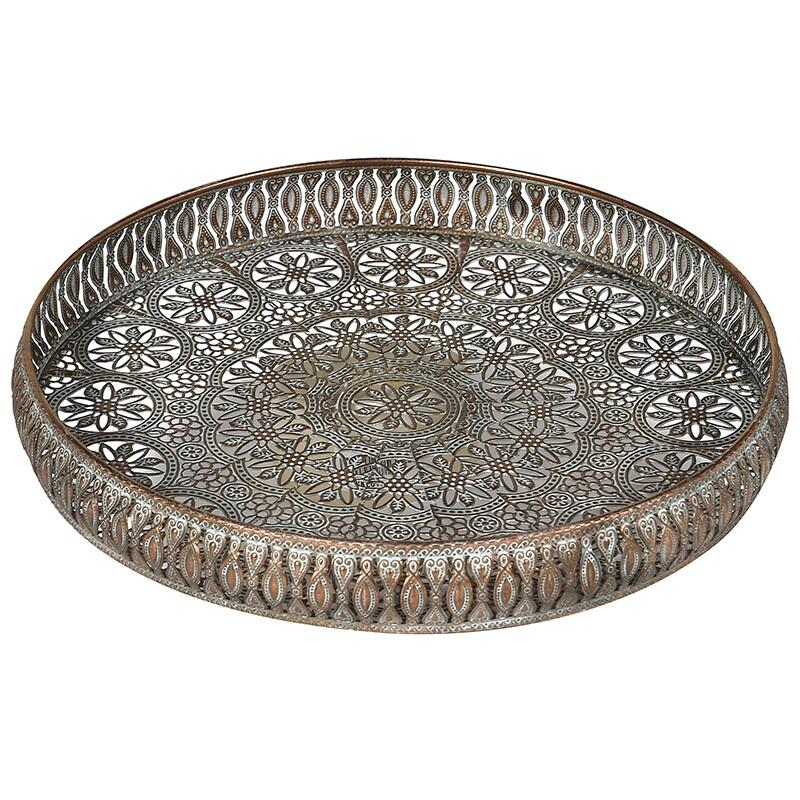 Medina Large Round Filigree Tray