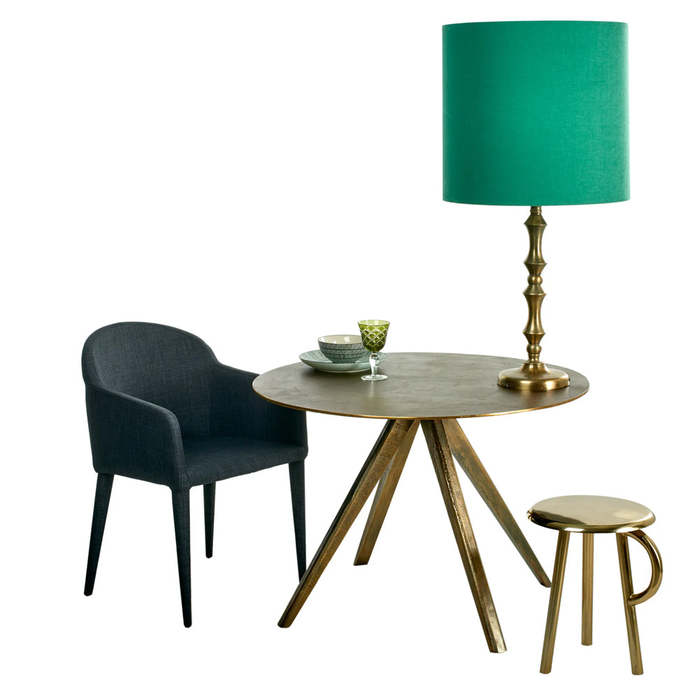 Meredith Table with Antique Brass Plated Aluminium
